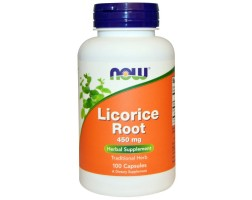 NOW Foods Licorice Root 450 мг - 100 Капсули - Сладък корен / Корен от Женско биле