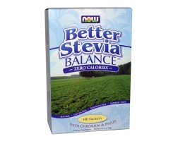 NOW Foods Stevia Balance (With Chromium & Inulin) - 100 Пакета - Стевия (с хром и инулин)