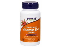 NOW Foods Vitamin D-3 1000 IU - Витамин Д - 180 дражета