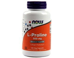 NOW Foods L-proline - 500мг - 120 капсули