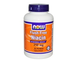 NOW Foods  Niacin - 250 МГ - 90 Капсули - Витамин B-3 (недразнеща форма)