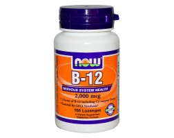 NOW Foods Vitamin B-12 2000 mcg - 100 Дражета - Витамин В12