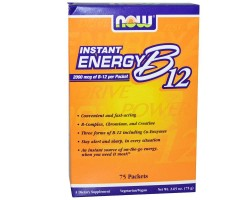 NOW Foods Vitamin B-12 Instant Energy - 75 Пакета - Витамин В12