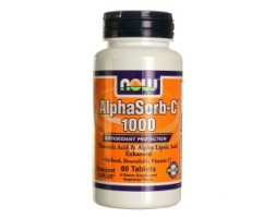 NOW Foods AlphaSorb-C - 1000 мг - 60 Таблетки - Буфериран Витамин C