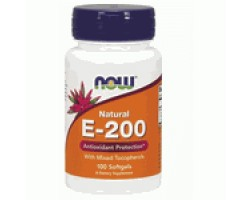 NOW Foods Vitamin E-200 IU MT - 100 Дражета - Витамин Е